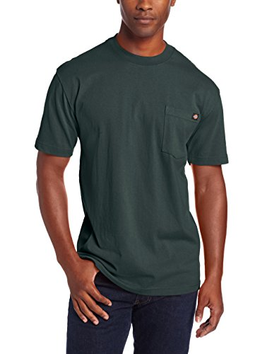 Dickie's Men's Heavyweight Crew Neck Short Sleeve Tee Big-tall,Hunter Green,3X-Large