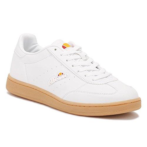 Ellesse Dames Witte Lederen Napoli Sneakers