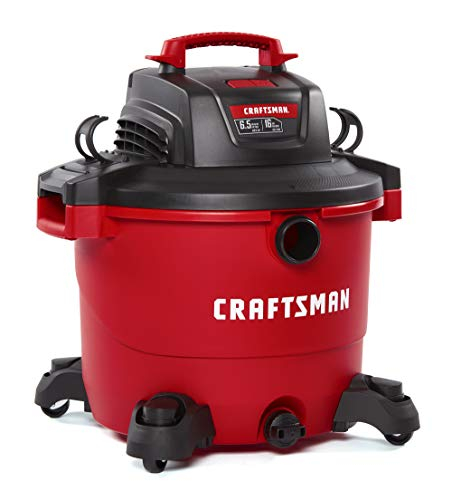 (CRAFTSMAN CMXEVBE17595 16 gallon 6.5 Peak Hp Wet/Dry Vac, Heavy-Duty Shop Vacuum with Attachments)