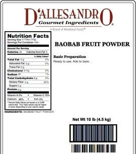 Baobab Fruit Powder, 10 Lb Bag by Angelina's Gourmet (Image #1)