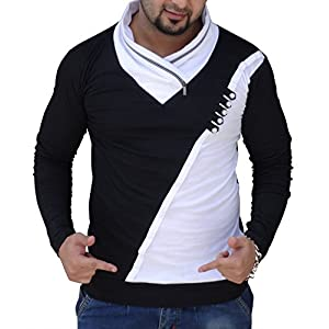 Black Collection Men's Plain Slim Fit Full Sleeve T-Shirt