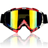 CarBoss Motorcycle Helmet Motocross Goggles Dirt Bike Cycling ATV Racing Safety Sunglasses for Men, Women, Youth - Fitsover Glasses Ski Snowboard Goggles - 100% UV Protective Outdoor Tactical Eyewear