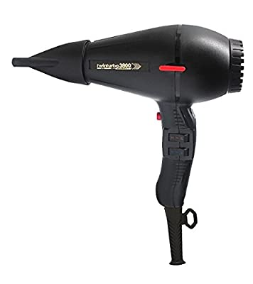 Twin Turbo 3800 Ionic & Ceramic 2100 Watt Hair Dryer, Features a Nickel Chrome Heating Element and Safety Thermostat, with 4 Temperature and 2 Speed Settings, Energy Saving with Up To 60%Faster Drying, Built-In Silencer, Ozone and Eco Friendly, Includes 2