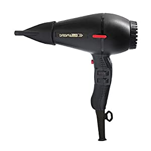 Twin Turbo 3800 Ionic & Ceramic 2100 Watt Hair Dryer, Features a Nickel Chrome Heating Element and Safety Thermostat, with 4 Temperature and 2 Speed Settings, Energy Saving with Up To 60ster Drying, Built-In Silencer, Ozone and Eco Friendly, Includes 2 Unbreakable Nozzles, Black Finish