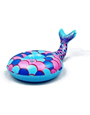 Mermaid Tail Drink Float, Mermaid Tail Coasters Inflatable Drink Cup Holder, Decoration and Outdoor Swimming Pool ,6 Pack