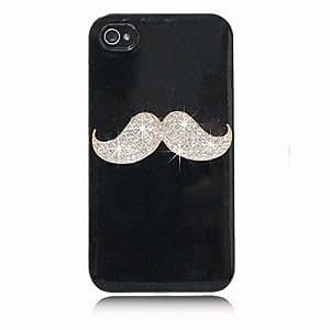 Zircon Mustache Pattern Hard Case for iPhone 4/4S