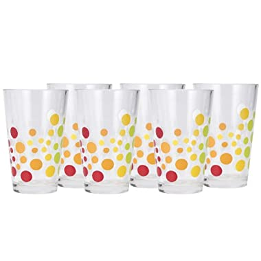Zak Designs 8-Ounce Juice Glasses, Bubble Design, Set of 6