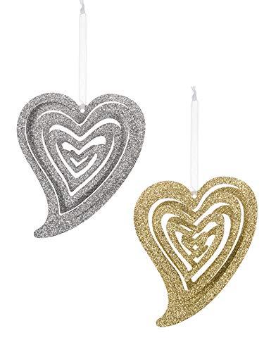 t Ornaments Set of 2 Assorted ()