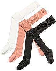 Girls' Tights Thick Cotton Stockings Rib Knit Leggings Autumn 3