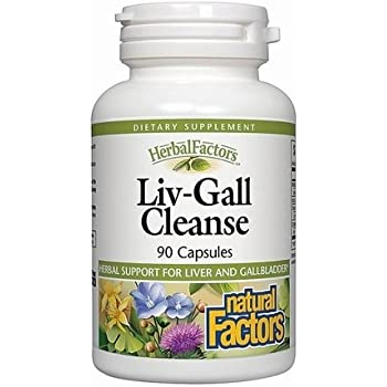 Natural Factors - HerbalFactors Liv-Gall Cleanse, Herbal Support for Liver & Gallbladder, 90 Capsules