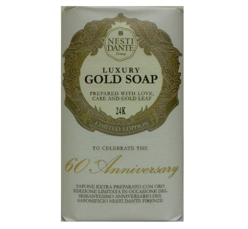 Gold Leaf Bar Soap - Nesti Dante Nesti dante 60 anniversary luxury gold soap with gold leaf (limited edition), 8.8oz, 8.8 Ounce
