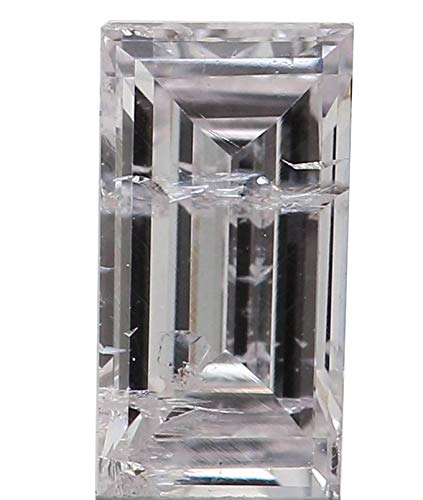 Natural Loose Diamond Baguette Light Pink Color I1 Clarity 5.70 MM 0.33 Ct ()