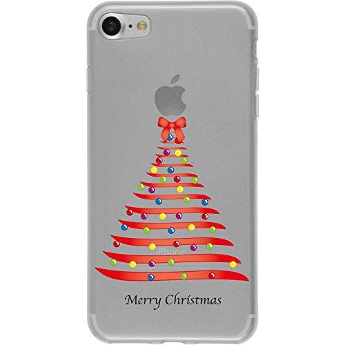 PhoneNatic Case für Apple iPhone 7 Silikon-Hülle X Mas Weihnachten M1 Case iPhone 7 Tasche + 2 Schutzfolien