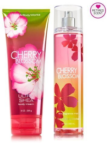 - Bath & Body Works Signature Collection Cherry Blossom Gift Set ~ Body Cream & Fragrance Mist. Lot of 2