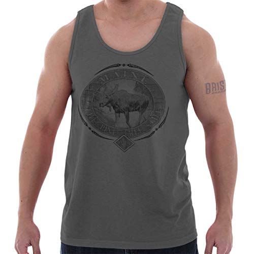 6 Ounce Maine Lobster - Classic Teaze Maine Pine Tree State Mountain Moose Gift Tank Top Charcoal