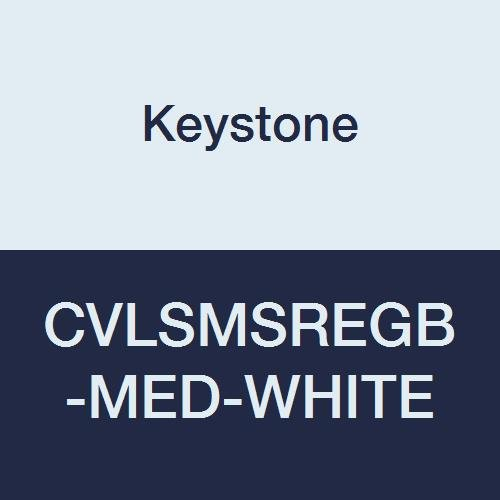 Pack of 25 Zipper Front Keystone CVLSMSREGB-MED-White SMS Coverall Attached Hood and Boots White Elastic Wrists Medium