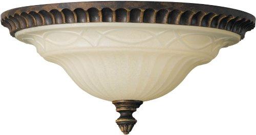 Feiss FM269WAL Drawing Room Glass Flush Mount Ceiling Lighting, Brown, 2-Light (13