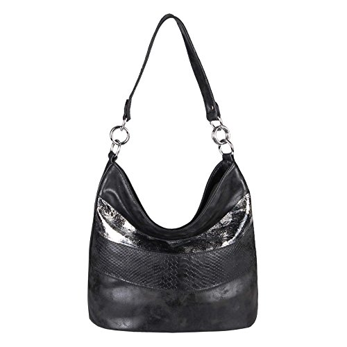 OBC Only-Beautiful-Couture - Bolso al hombro para mujer negro negro ca.: 29x40x19 cm (BxHxT) negro