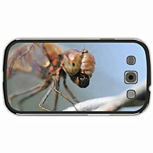 New Style Customized Back Cover Case For Samsung Galaxy S3 Hardshell Case, Black Back Cover Design Dragonfly Personalized Unique Case For Samsung S3 wangjiang maoyi