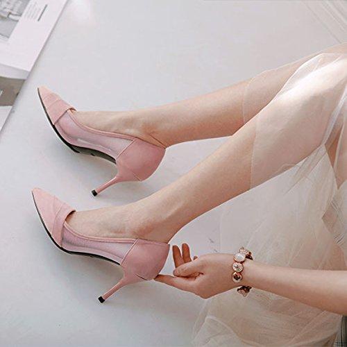 ZFYSS Her Einzelne Schuhe 8Cm Hochhackigen Schuhe Spitze Dünn Dünn Dünn Und Wilde Damenschuhe.  - b37099