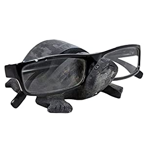 Gifts From India- Wooden Eyeglass Spectacle Handmade Turtle Shape Holder for Home Decorative or Office Desk-Black