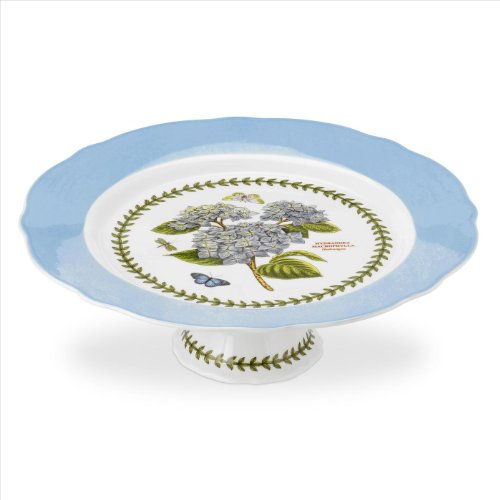 PORTMEIRION BOTANIC GARDEN TERRACE Scalloped edge footed cake plate - Terrace Garden