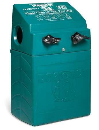 DOGIPOT 1005-2 DOGVALET Includes Litter Bag Rolls and Liner Trash Bags, Polyethylene, Forest Green