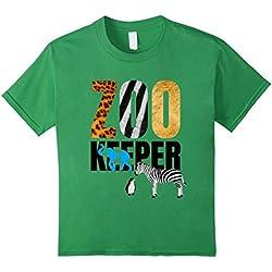 Kids Zoo Keeper T-Shirt. Wild Tiger Lion Zebra Pinguin Jersey 8 Grass