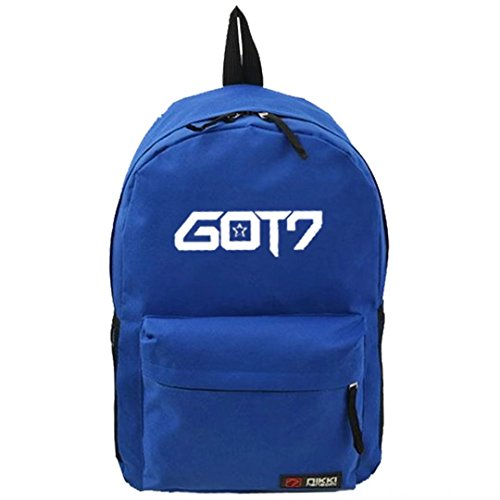 Bag Schoolbag GOT7 Shoulder Backpack Stars Satchel Dark Kpop Fanmade Blue Canvas q7wg06nx