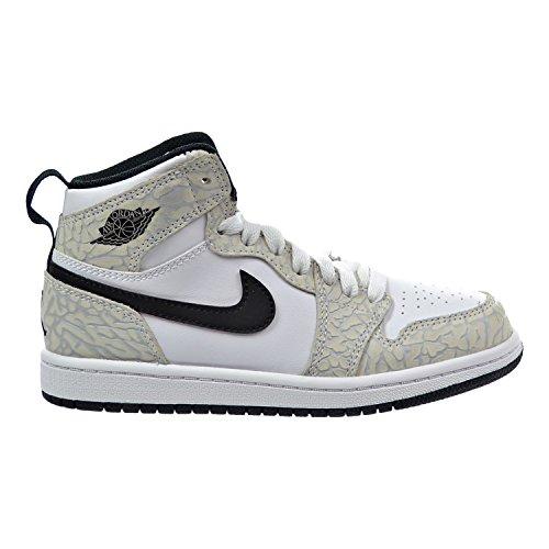 Air Jordan 1 Retro High Premium BP Little Kid's Shoes White/Black/Pure Platinum 826714-106 (12 M US)