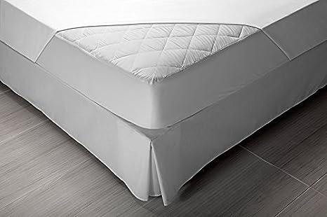 Pikolin Home - Protector de colchón acolchado cubre colchón Aloe Vera, impermeable y transpirable, 105 x 190/200 cm, cama 105 (Todas las medidas): ...