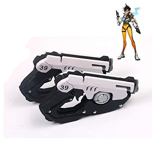FUTUAN Overwatch Tracer Cosplay Gun Revolver Model Costume Halloween Two Gun