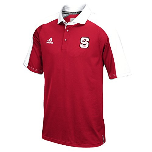 adidas NCAA North Carolina State Wolfpack Men's Sideline Climalite Polo Shirt, XX-Large, Red (Shirt Sideline Polo Adidas)