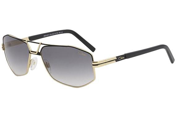 Amazon.com: Cazal 9073 anteojos de sol 002sg negro oro/gris ...