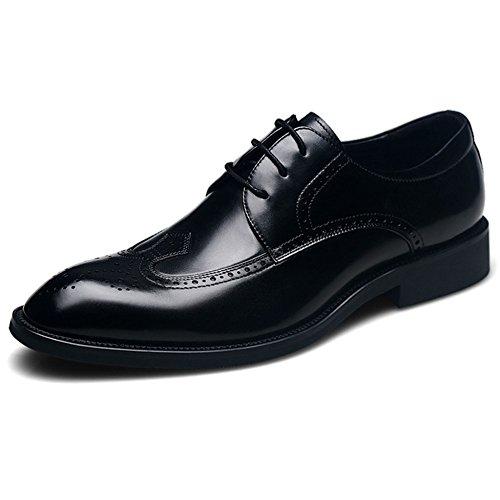 Uomo Da A Da Classiche Cerniera In Black up A Con Scarpe Pelle Chiusura Pelle Lace Mano Sposa Scarpe Fatte Fashion In Oxford Ezx5gnqn
