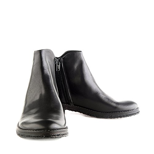 Enamorarse Genuino 0 Crepona com cremallera Felmini Mujer Size Zapatos EU Cuero Negro 9841 Botines con para Negro wqOXPt