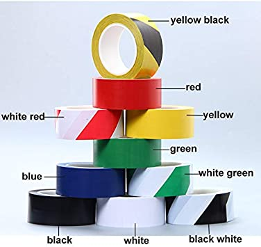 nero//giallo nastro adesivo di sicurezza per magazzino fabbrica Toolstar impermeabile scuola nastro di avvertimento in PVC