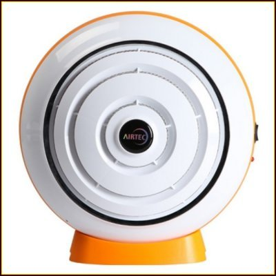 AirTec Habanero 1 Deodorizing Quiet Air Purifier with re-usable dual E-Nano Filter Technology CE Certified & Energy efficient (Orange) by Habanero I