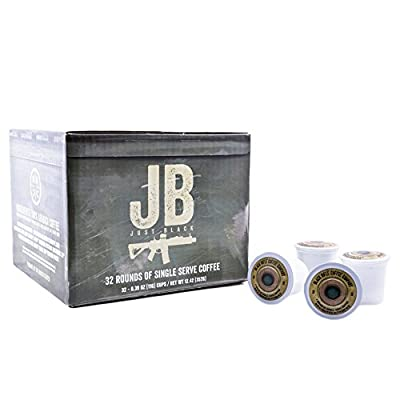 """Black Rifle Coffee Company JB """"Just Black"""" Coffee Rounds for Single Serve Brewing Machines (32 Ct)"""