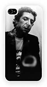 Leonard Cohen - Smoking, iPhone 4 / 4S glossy cell phone case / skin