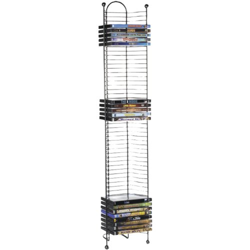 Atlantic Nestable 52 DVD/Blu-Ray/Games Tower - Space Saving Modern Design in High End Gunmetal finish, PN63712035
