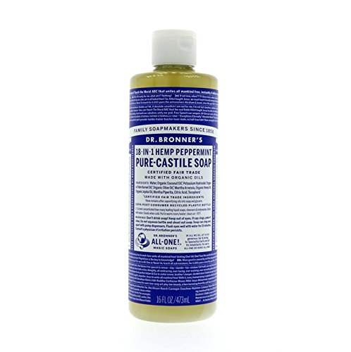 (Dr. Bronner's Magic Soaps 18-in-1 Hemp Pure Castile Soaps Peppermint 16 fl. oz.)