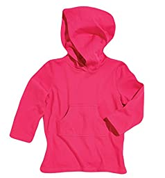 Sun Smarties Girls Cotton Hoodie Sun Protection Beach Swim Cover-Up Pink 18 Mths