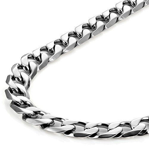 Urban Jewelry Classic Mens Necklace 316L Stainless Steel Silver Chain Color 18'',21'',23'' (6mm) (23 Inches) by Urban Jewelry