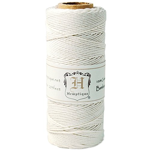 - Hemptique Bamboo Cord Spool 20lb 205'-White