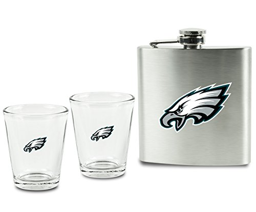 NFL Philadelphia Eagles Shot Glasses &  Brushed Stainless for sale  Delivered anywhere in USA