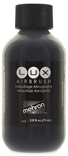 Mehron Makeup LUX Airbrush Face & Body Paint, BLACK- 2.5 (Black And White Body Paint)