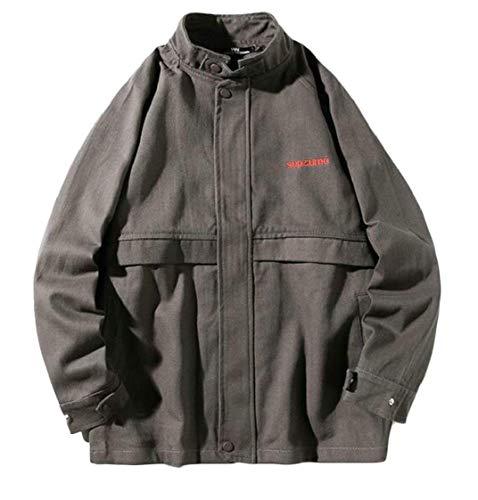 vent Kangqi Pour Grey Plein De couleur Hommes En Manteau Vêtements Coupe Homme Air Small Léger Taille YxYr5fqw