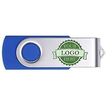 Amazon.com: 100 Bulk personalizado rotación Pendrive metal ...