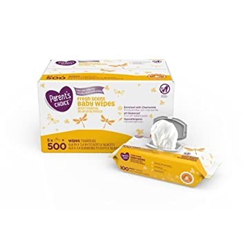 Parents Choice Fresh Scent Baby Wipes 500 Count by Parents Choice